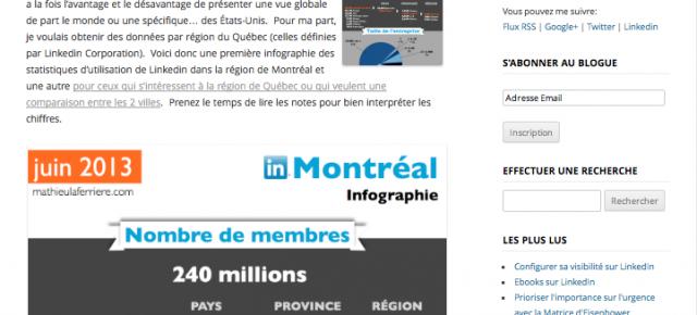 Linkedin Montréal – Statistiques d'utilisation 2013