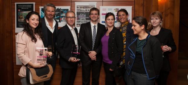 Les équipes RH de CGI et Kalaapa heureuses de ce Prix de la créativité RH 2014